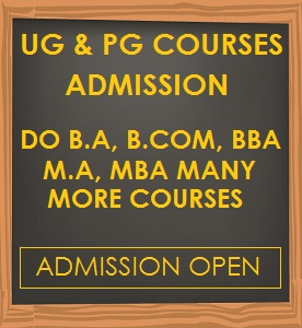 ug & pg courses admission